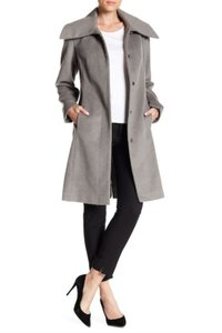 Cole Haan Walker Winter Long Wool Blend Stand-up Collar Trench Coat