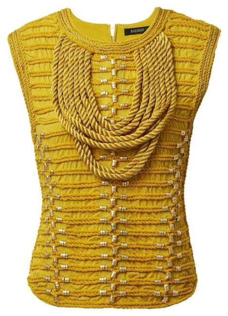 Item - Size Mustard Gold Military New Vest Yellow Top