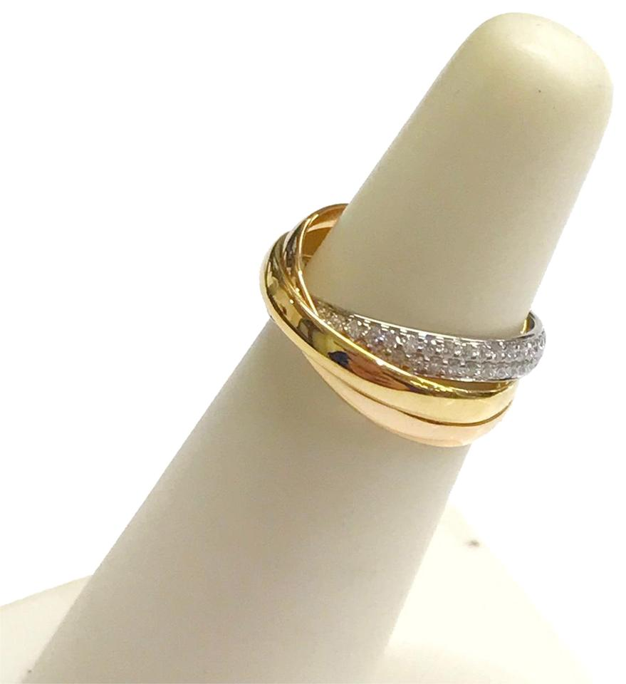Cartier Vintage Cartier Trinity Ring 18 Karat And Diamonds 18 Karat Yellow Gold 18