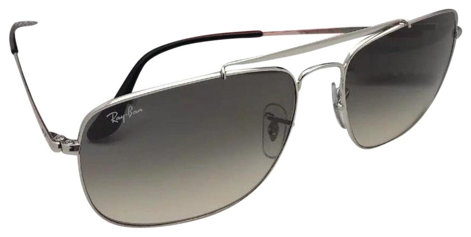 08239001b4 Ray-Ban The Colonel Rb 3560 003 32 58-17 Silver Aviator W  Grey ...