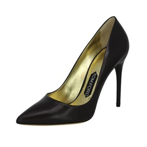 Tom Ford Stiletto Pointed Toe Leather Brown Pumps