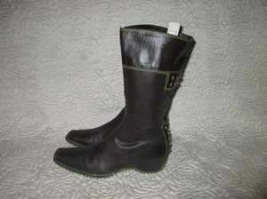 Pons Quintana Brown Leather Brown(dark) Boots