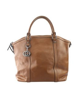 Gucci Leather Satchel in Brown