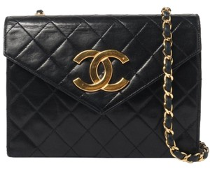 Chanel Vintage Lambskin Leather Shoulder Bag