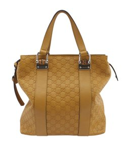 Gucci Leather Tote in Yellow
