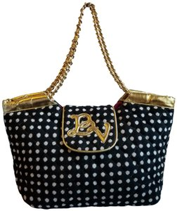 Betseyville by Betsey Johnson Tote in Black and white