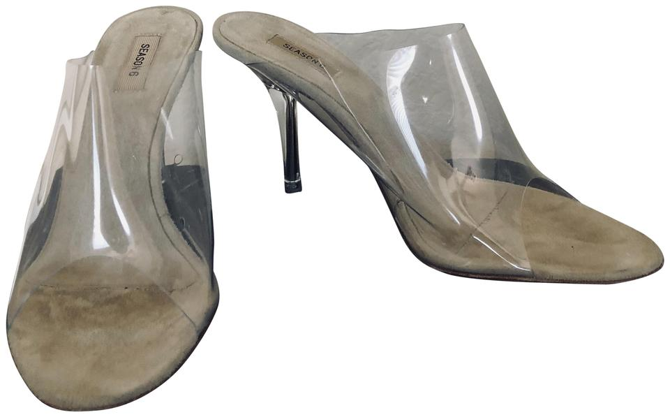 21c45ebc892 YEEZY Clear Nude Mules Slides Size US 5 Narrow (Aa