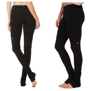 Alo Goddess Leggings Black Over Black