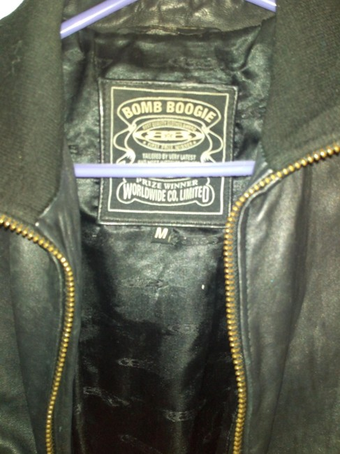 Bomb Boogie Geniune Classic Chic Leather Jacket Image 4