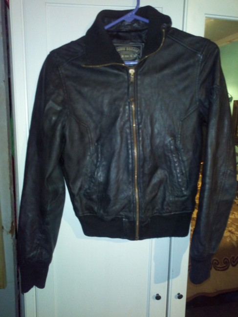 Bomb Boogie Geniune Classic Chic Leather Jacket Image 5