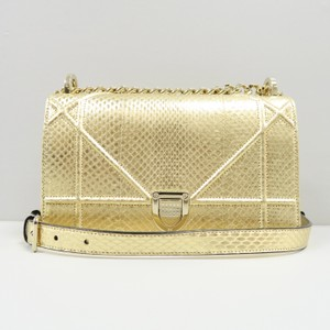 Dior Diorama Christian Snakeskin Shoulder Bag