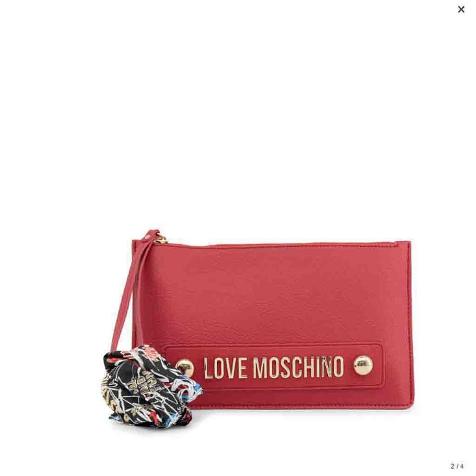 d3e7c77018 Love Moschino Red Faux Leather Clutch - Tradesy