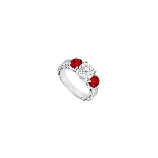 Preload https://img-static.tradesy.com/item/24370904/red-three-stone-created-ruby-and-cubic-zirconia-14k-white-gold-150-c-ring-0-0-540-540.jpg
