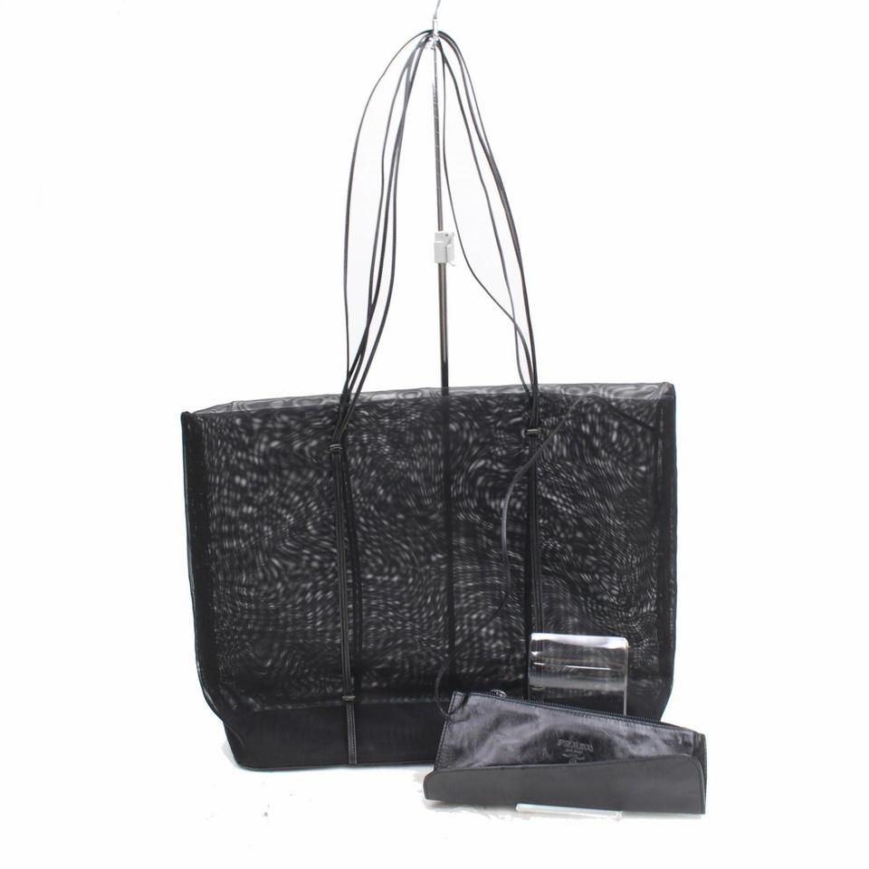 d55e50f2dceab7 Prada Mesh See Through Shopper Gucci Chanel Shoulder Bag Image 0 ...
