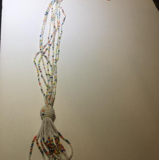 Vintage Vintage white & colorful beaded Tassel necklace Image 3