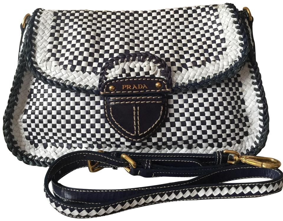 8121287fc355 Prada Madras Leather Cross Body Bag - Tradesy