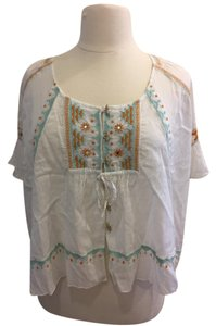 Free People Top White & Multi
