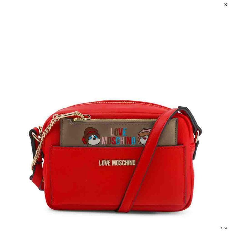 c416861ed5 Love Moschino Red Faux Leather Clutch - Tradesy