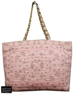 Chanel Gst Grand Shopper Shopping Paisley Tote in Pink