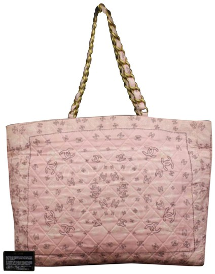 Preload https://img-static.tradesy.com/item/24371296/chanel-extra-large-quilted-kaleidoscope-cc-logo-chain-232846-pink-cotton-tote-0-2-540-540.jpg