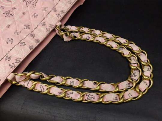 Chanel Gst Grand Shopper Shopping Paisley Tote in Pink Image 4