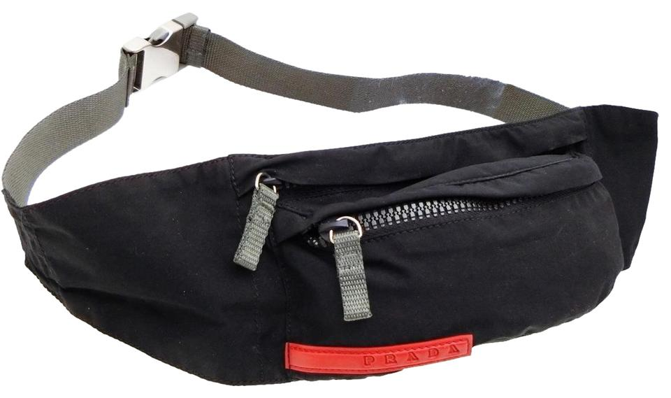 6f03060f12a2 Prada Tessuto Sports Fanny Pack Waist Belt Pouch 232852 Black Nylon ...