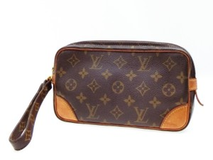 Louis Vuitton Marly Dragonne Pochette Compiegne Orsay Brown Clutch