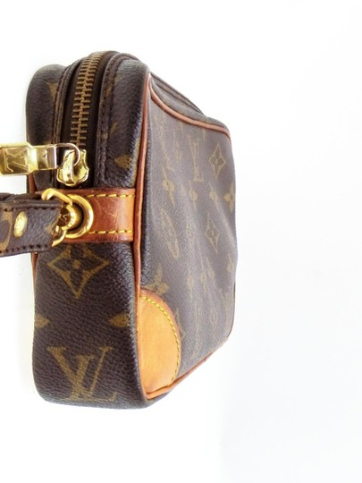 Louis Vuitton Marly Dragonne Pochette Compiegne Orsay Brown Clutch Image 5