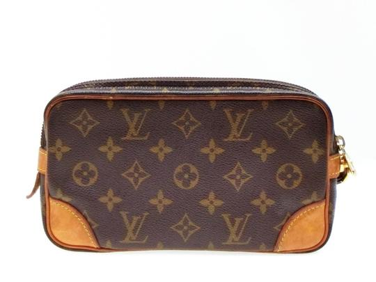 Louis Vuitton Marly Dragonne Pochette Compiegne Orsay Brown Clutch Image 6