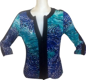 Joseph Ribkoff Metallic Blue Jacket