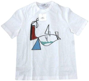 HERMES Art Picasso Basquiat Limited Rare T Shirt White