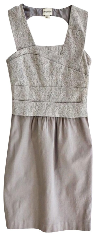 cheapest new arrivals cheap price Reiss Gray Abigail Short Cocktail Dress Size 4 (S) - Tradesy