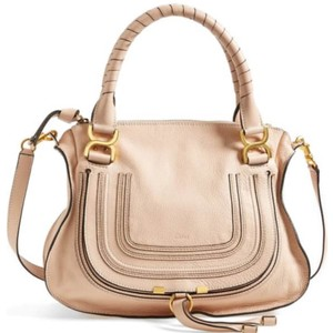 Chloé Satchel in Blush nude