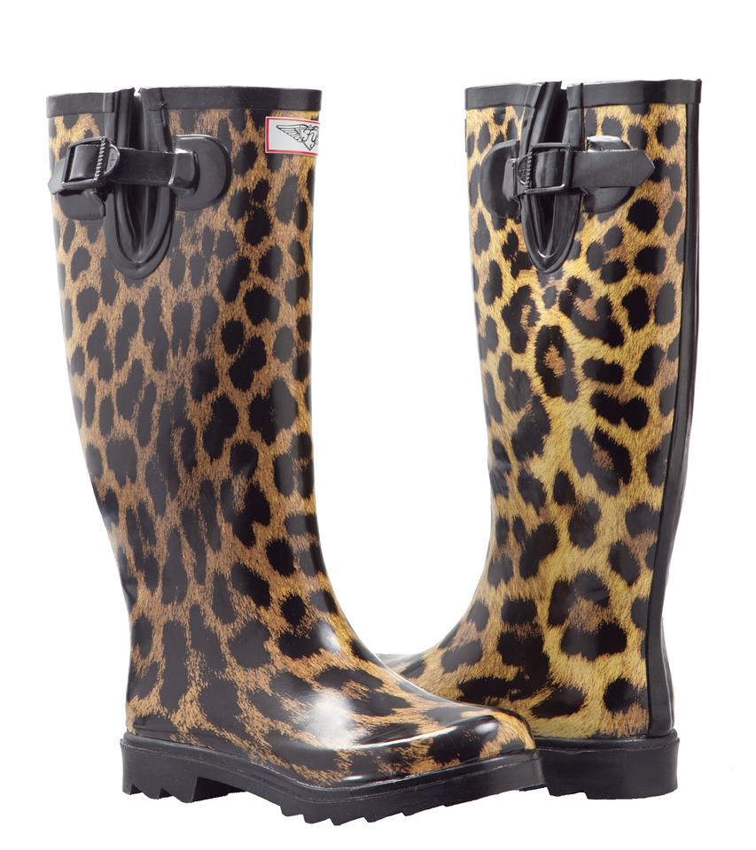 d5d825292178 Forever Young Animal Print Women Tall Rubber Rainboots  1406 Boots Booties