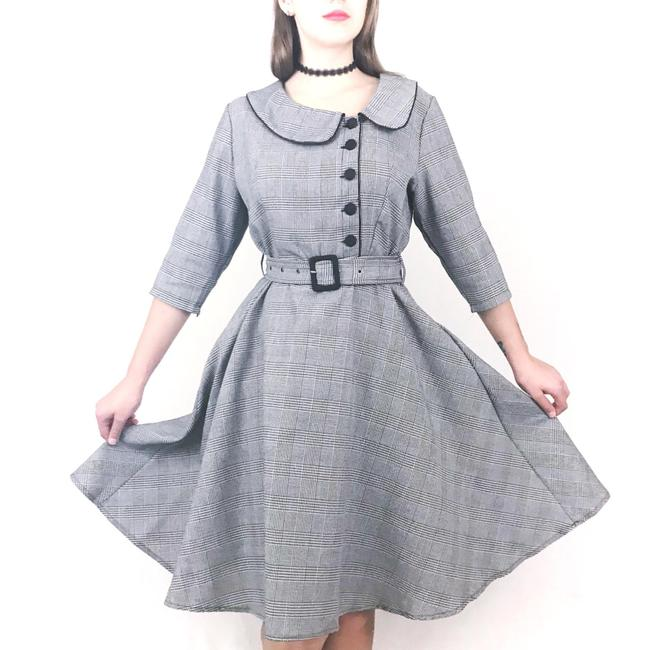 Preload https://img-static.tradesy.com/item/24371838/gray-retro-plaid-a-line-career-mid-length-workoffice-dress-size-12-l-0-1-650-650.jpg
