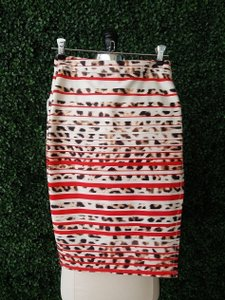 Asilio Maxi Skirt Red, Ivory, brown