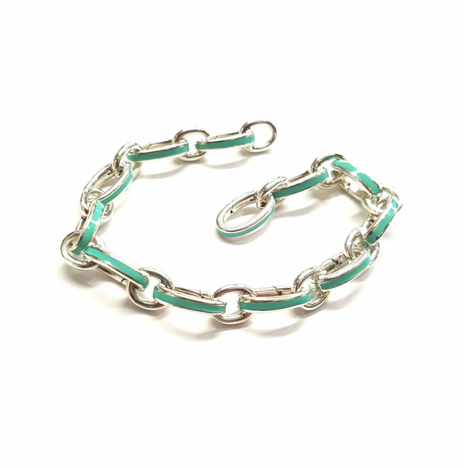 5194c299badd2 Tiffany & Co. Sterling Silver and Blue Clasping Bracelet 12% off retail