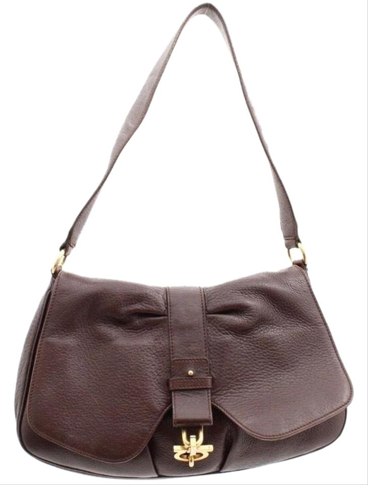 08dc0b784ea6 Salvatore Ferragamo Hobo Brown Leather Shoulder Bag - Tradesy