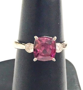 Other GORGEOUS VINTAGE!!!! Platinum Diamond and Pink Tourmaline Ring Platinum Diamonds weighing 0.10 carats total weight Pink Tourmaline weighing 2.21 carats total weight 4.7 Grams Size: 5.75 BEAUTIFUL!!! Comes with Box!!!