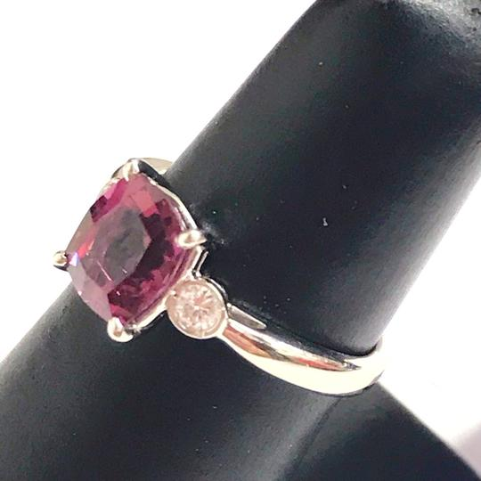 Other GORGEOUS VINTAGE!!!! Platinum Diamond and Pink Tourmaline Ring Platinum Diamonds weighing 0.10 carats total weight Pink Tourmaline weighing 2.21 carats total weight 4.7 Grams Size: 5.75 BEAUTIFUL!!! Comes with Box!!! Image 1