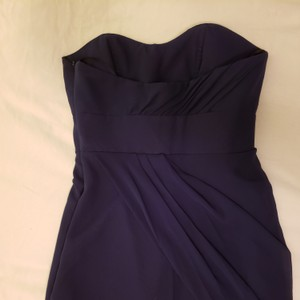 Jim Hjelm Occasions Navy Deep Blue Traditional Bridesmaid/Mob Dress Size 4 (S)