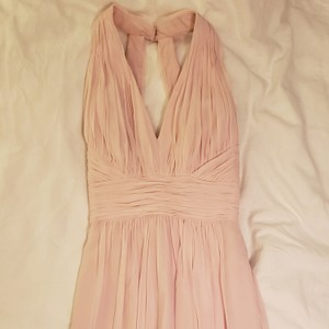 Dessy Blush Lightest Pink Polyester Collection 2908 Traditional Bridesmaid/Mob Dress Size 6 (S)