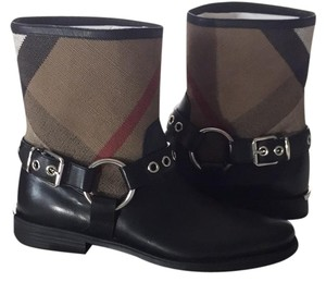 Burberry Harness Checkered black Boots