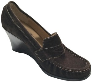 Bass Loafers Career Casual Brown Wedges