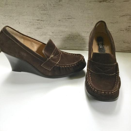 Bass Loafers Career Casual Brown Wedges Image 2