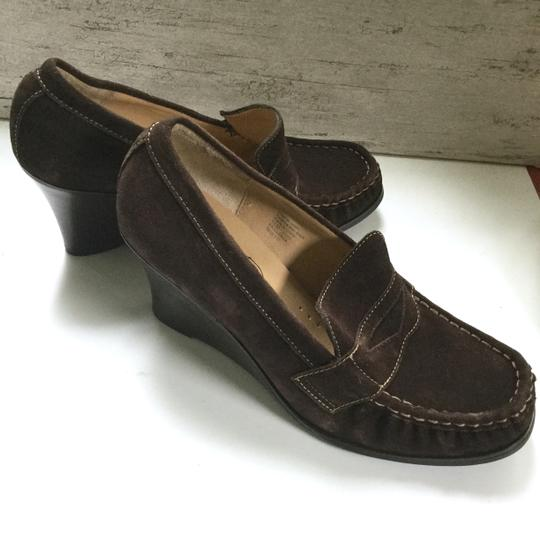 Bass Loafers Career Casual Brown Wedges Image 3