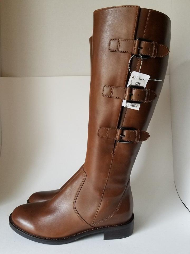 cd7f67680d1 Ecco Brown Womens Tall Knee High  hobart  Cognac Leather Boots ...