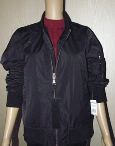 Steve Madden Bomber Windbreaker Casual Wear Long Sleeve Nylon Motorcycle Jacket