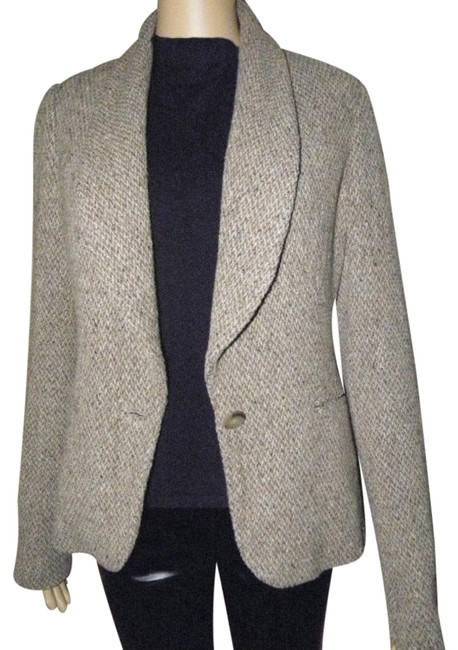 Preload https://img-static.tradesy.com/item/24372432/ralph-lauren-black-label-brownbeige-fully-lined-tweed-jacket-blazer-size-10-m-0-1-650-650.jpg
