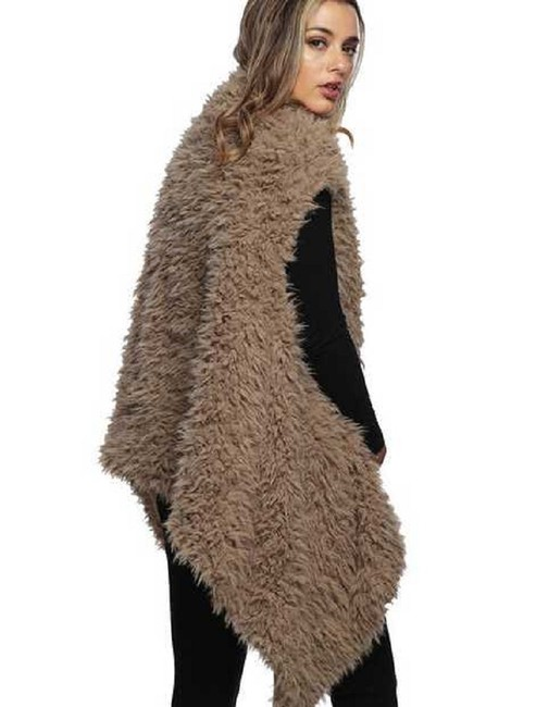 Other Fur Wrap Fur Coat Fur Shawl Fur Cape Ruana Vest Image 2